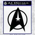 Star Trek Starfleet Decal Sticker D11 Black Logo Emblem 120x120