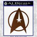 Star Trek Starfleet Decal Sticker D11 Brown Vinyl 120x120