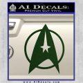 Star Trek Starfleet Decal Sticker D11 Dark Green Vinyl 120x120