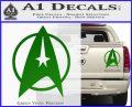 Star Trek Starfleet Decal Sticker D11 Green Vinyl 120x97