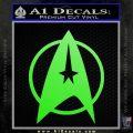 Star Trek Starfleet Decal Sticker D11 Lime Green Vinyl 120x120