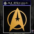 Star Trek Starfleet Decal Sticker D11 Metallic Gold Vinyl 120x120