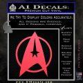 Star Trek Starfleet Decal Sticker D11 Pink Vinyl Emblem 120x120