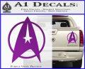 Star Trek Starfleet Decal Sticker D11 Purple Vinyl 120x97