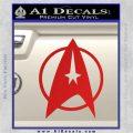 Star Trek Starfleet Decal Sticker D11 Red Vinyl 120x120