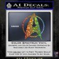 Star Trek Starfleet Decal Sticker D11 Sparkle Glitter Vinyl 120x120