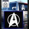 Star Trek Starfleet Decal Sticker D11 White Emblem 120x120