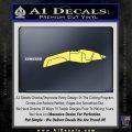 Star Trek The Next Generation Phaser Decal Sticker Yelllow Vinyl 120x120