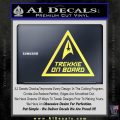 Star Trek Trekkie On Board Vinyl Decal Yelllow Vinyl 120x120