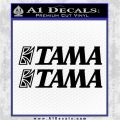 TAMA DRUMS LOGO VINYL DECAL STICKER SET Black Logo Emblem 120x120