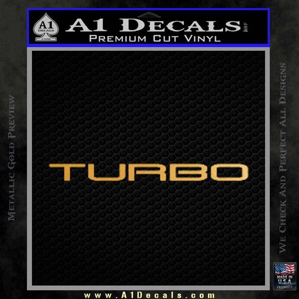TURBO 3 DLB Decal Sticker Metallic Gold Vinyl