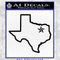 Texas Outline Decal Sticker Customizeable Black Logo Emblem 120x120