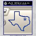 Texas Outline Decal Sticker Customizeable Blue Vinyl 120x120