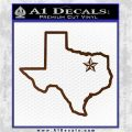 Texas Outline Decal Sticker Customizeable Brown Vinyl 120x120