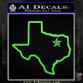 Texas Outline Decal Sticker Customizeable Lime Green Vinyl 120x120