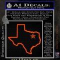 Texas Outline Decal Sticker Customizeable Orange Vinyl Emblem 120x120