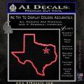Texas Outline Decal Sticker Customizeable Pink Vinyl Emblem 120x120