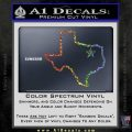 Texas Outline Decal Sticker Customizeable Sparkle Glitter Vinyl 120x120