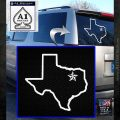 Texas Outline Decal Sticker Customizeable White Emblem 120x120