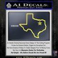 Texas Outline Decal Sticker Customizeable Yelllow Vinyl 120x120