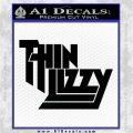 Thin Lizzy Rock Band Vinyl Decal Sticke Black Logo Emblem 120x120