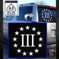 Three Percent CR Decal Sticker White Emblem 120x120