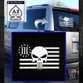 Three Percenter Flag Skull Decal Sticker White Emblem 120x120