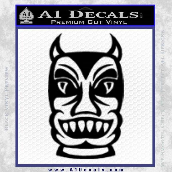 Tiki Decal Sticker Black D2 Vinyl Black