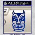 Tiki Decal Sticker D2 Blue Vinyl Black 120x120