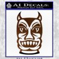Tiki Decal Sticker D2 Brown Vinyl Black 120x120