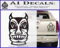 Tiki Decal Sticker D2 CFB Vinyl Black 120x97