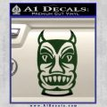 Tiki Decal Sticker D2 Dark Green Vinyl Black 120x120