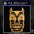 Tiki Decal Sticker D2 Gold Metallic Vinyl Black 120x120