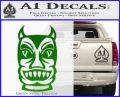 Tiki Decal Sticker D2 Green Vinyl Black 120x97