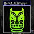 Tiki Decal Sticker D2 Neon Green Vinyl Black 120x120