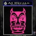 Tiki Decal Sticker D2 Neon Pink Vinyl Black 120x120