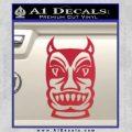 Tiki Decal Sticker D2 Red Vinyl Black 120x120