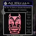 Tiki Decal Sticker D2 Soft Pink Emblem Black 120x120