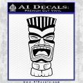 Tiki Head Decal Sticker D3 Black Logo Emblem 120x120