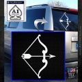 Traditional Bow Arrow Decal Sticker White Emblem 120x120