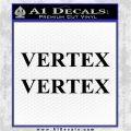 Vertex Pistons Logo Decal Sticker 2pk Black Logo Emblem 120x120