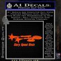 Warp Speed Bitch Decal Sticker Enterprise Trek Orange Vinyl Emblem 120x120