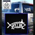 Wicca Decal Sticker Jesus Fish White Emblem 120x120