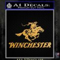 Winchester Firearms Stacked Decal Sticker Metallic Gold Vinyl 120x120