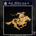 Winchester HM Decal Sticker Metallic Gold Vinyl 120x120