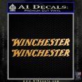 Winchester TXT Decal Sticker 2pk Metallic Gold Vinyl 120x120