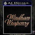 Windham Weaponry Decal Sticker Metallic Gold Vinyl 120x120