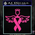 Winged Cancer Ribbon Decal Sticker Hot Pink Vinyl 120x120