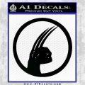 Wolfman D4 Decal Sticker Black Logo Emblem 120x120