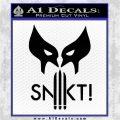 Wolfman Snikt D3 Decal Sticker Black Logo Emblem 120x120